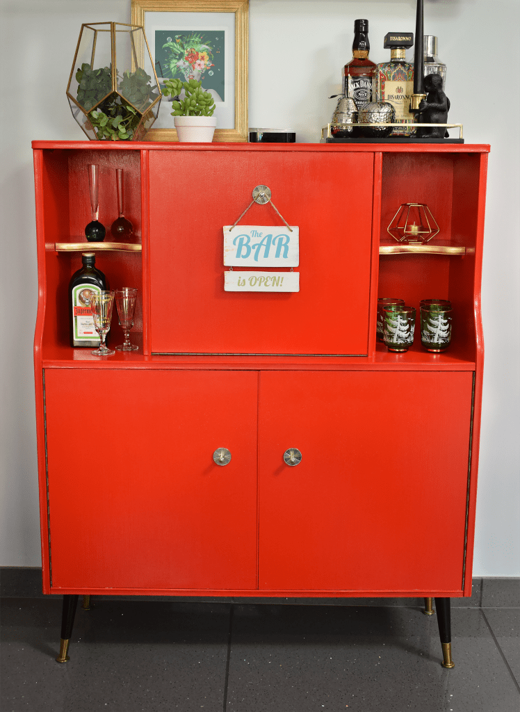 Upcycled Cocktail Cabinet