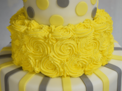 Three Tier Baby Shower Cake – Step by Step Tutorial