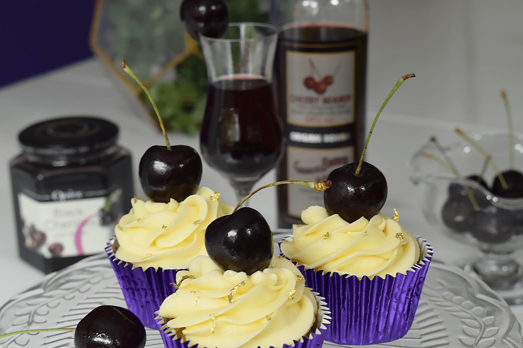 Cherry Brandy cocktail cupcakes