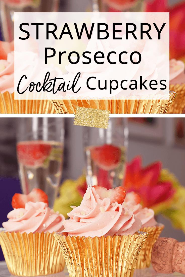 Strawberry Prosecco Cocktail Cupcake Recipe