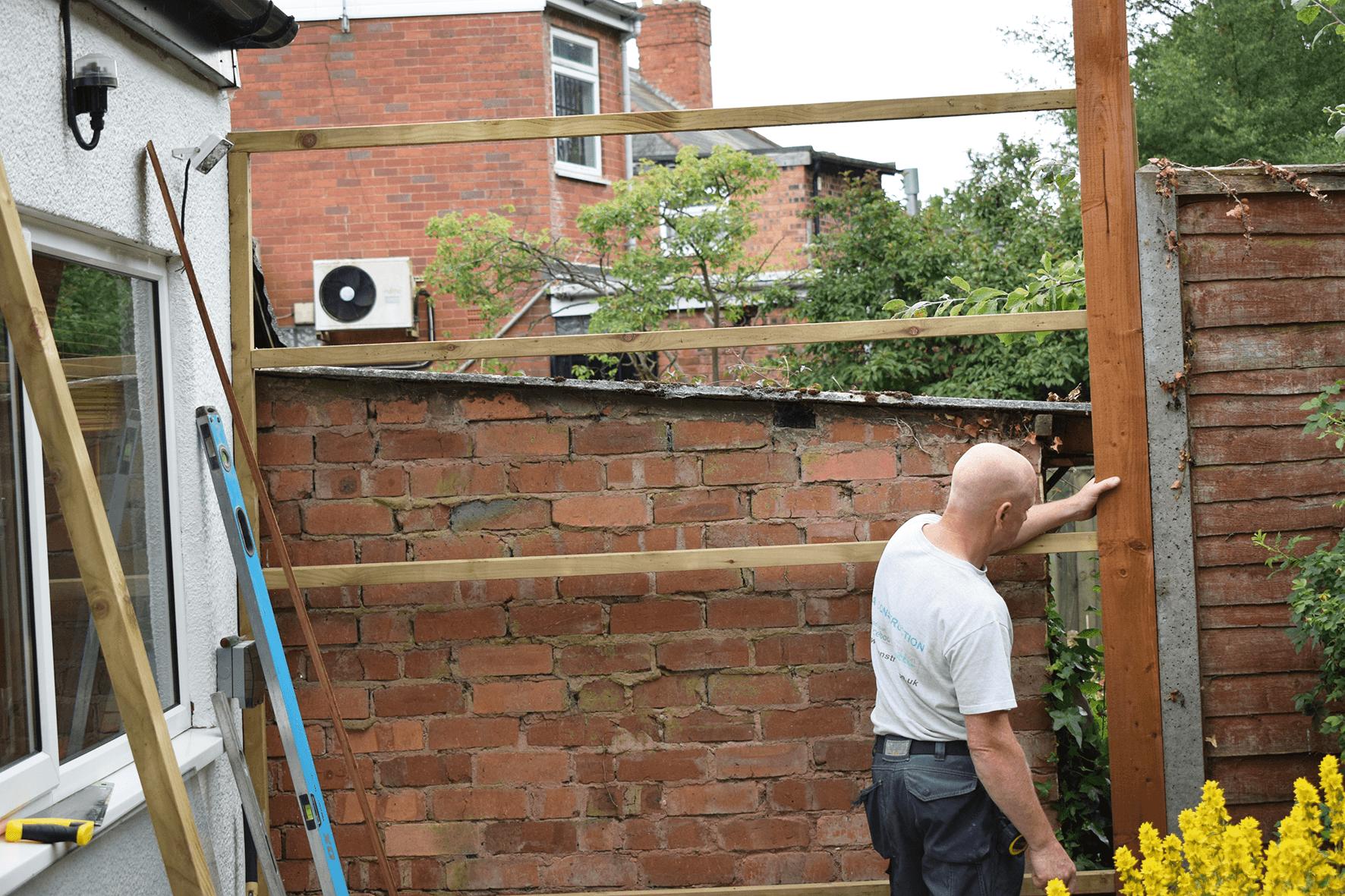 fence panel fram