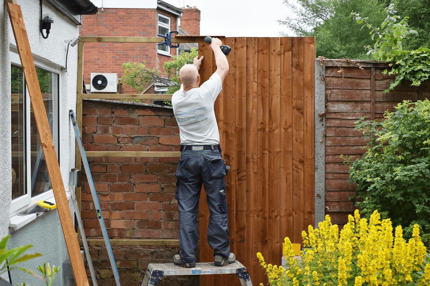 fixing fence panels