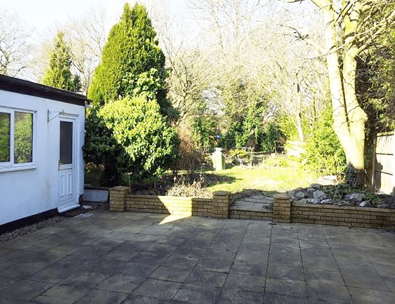 garden patio before