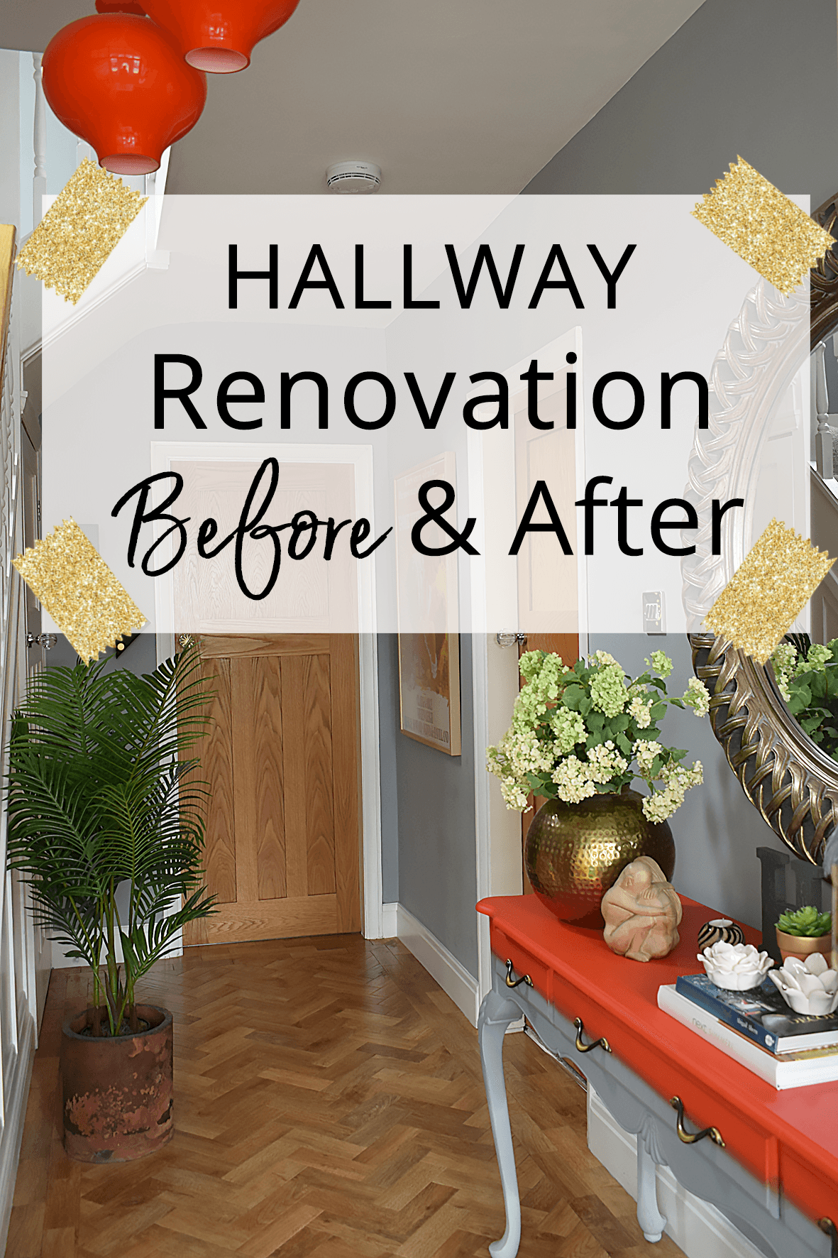 Hallway Renovation Before and After