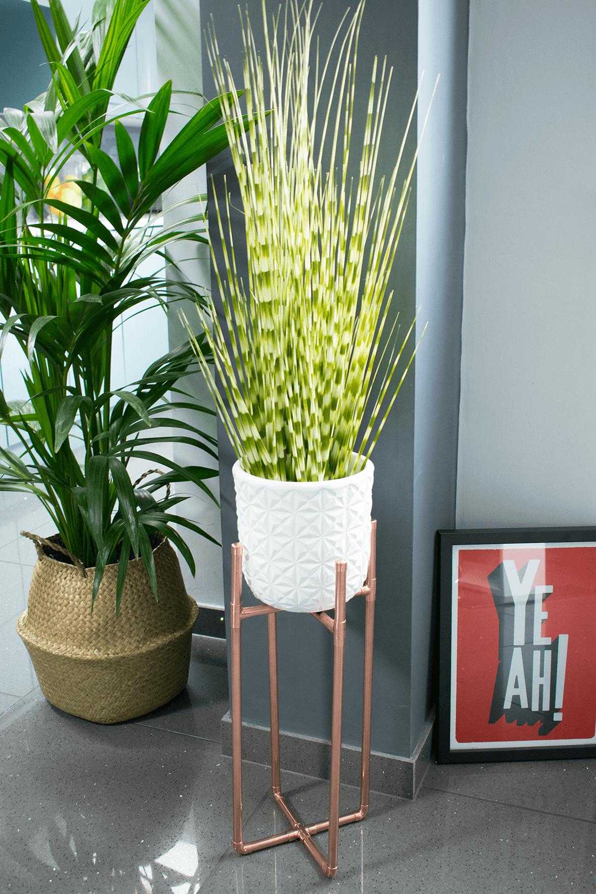Copper Plant Stand