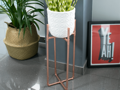 How to Make a DIY Copper Plant Stand