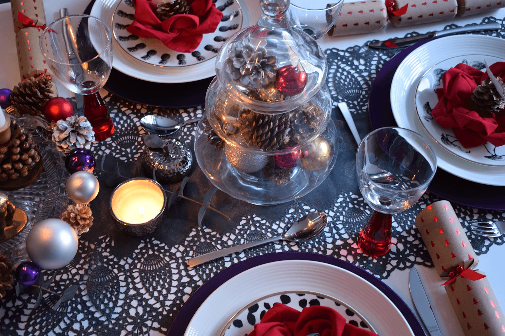 Glam Christmas Table Setting