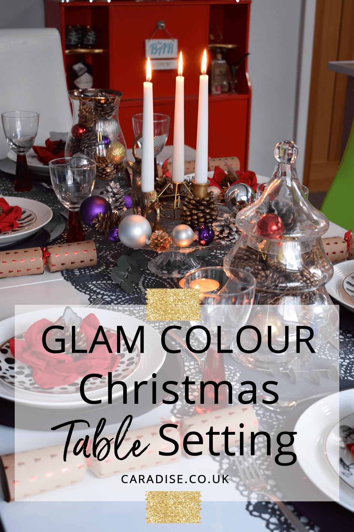 Glam Colour Christmas Table Setting