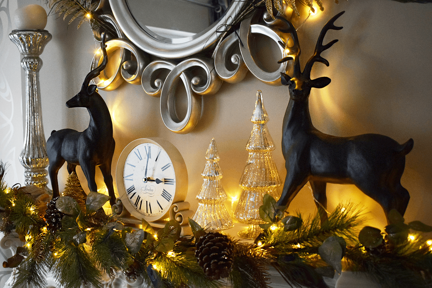Christmas fireplace decoration ideas and inspiration