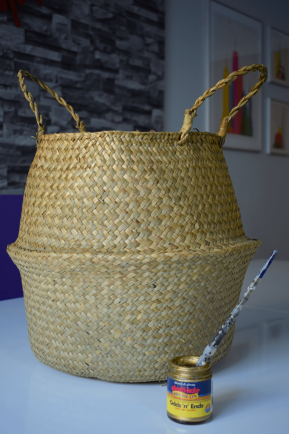 Belly Basket and Gold Paint