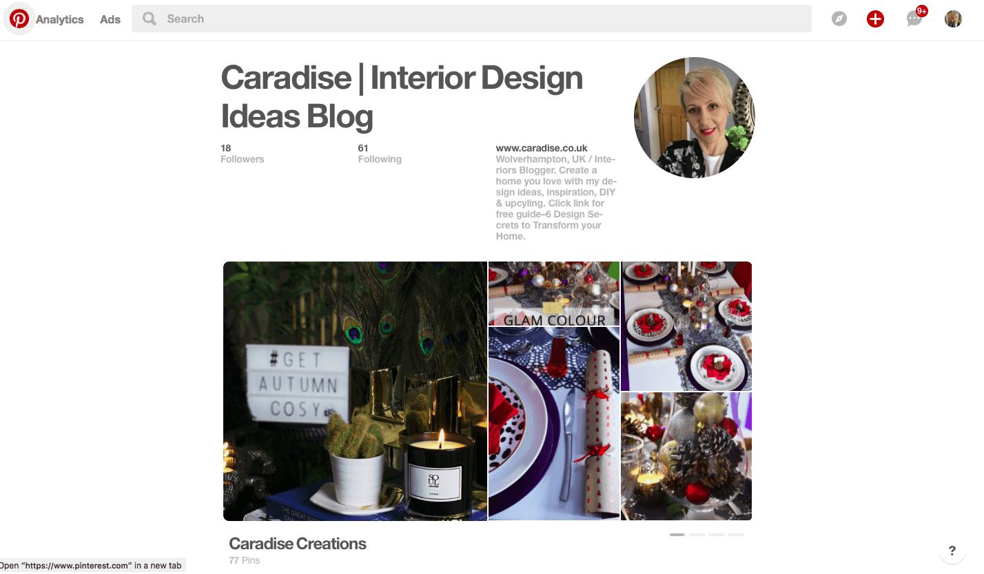 Caradise Pinterest Account