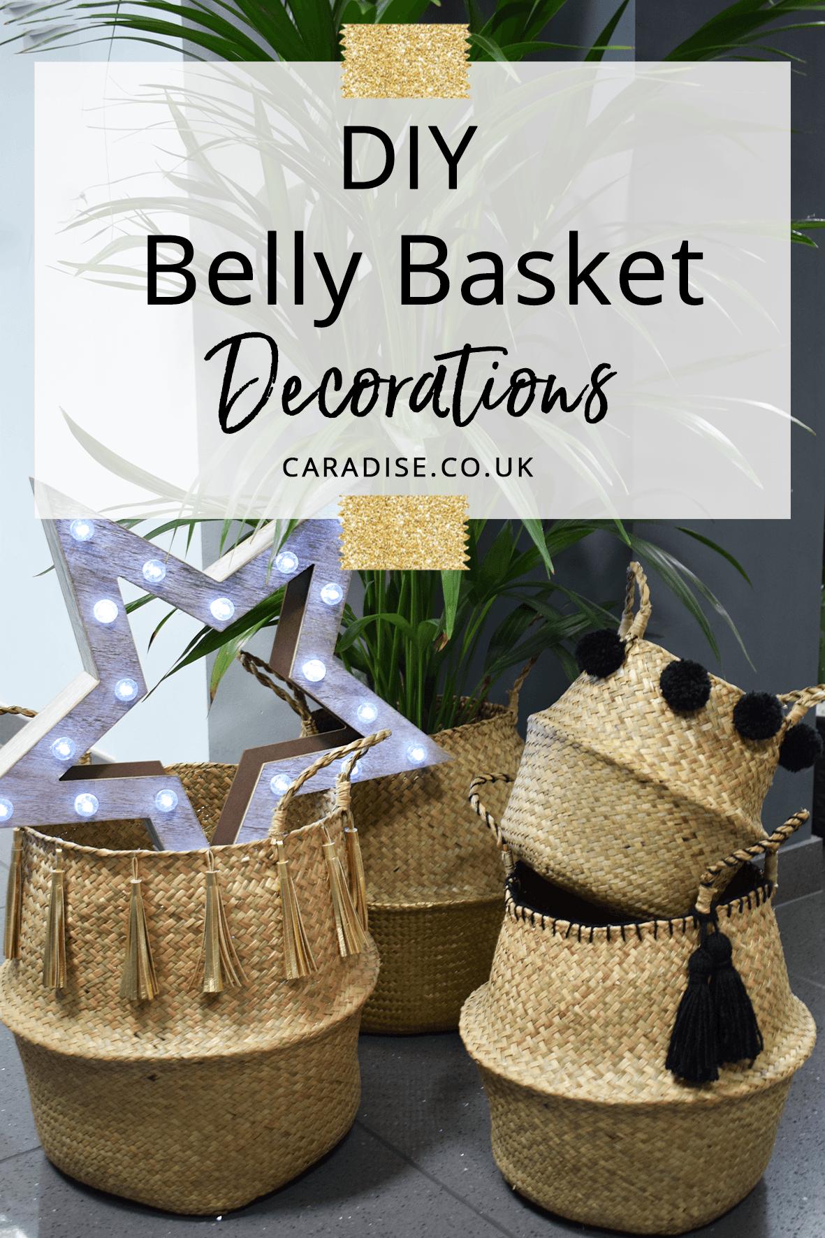 DIY Belly Basket Decorations