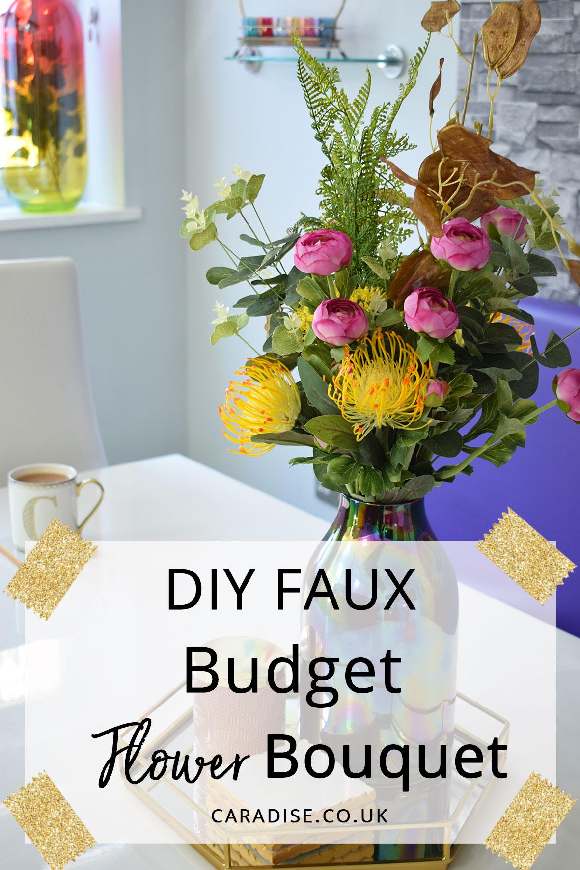 Diy faux budget flower bouquet caradise diy faux budget flower bouquet izmirmasajfo