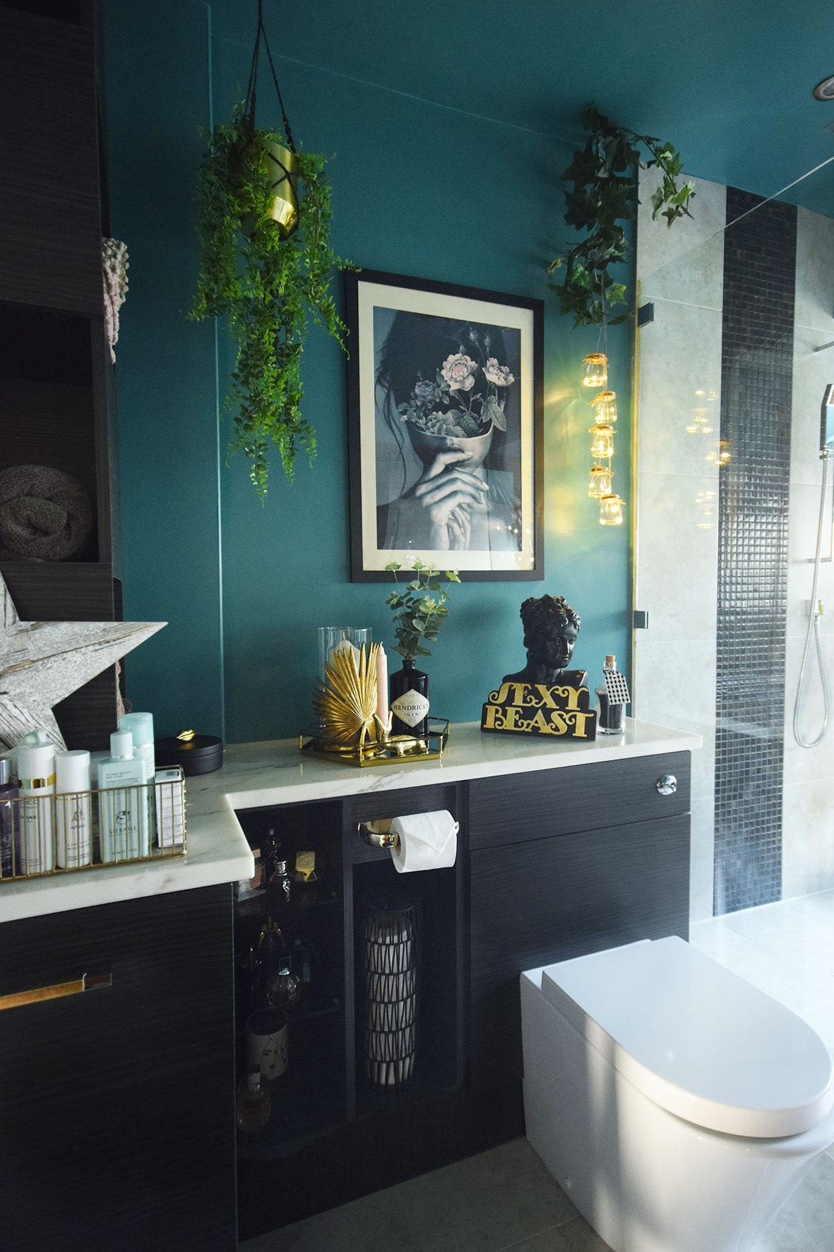 Luxury Teal Master Bathroom Makeover Reveal Part 1